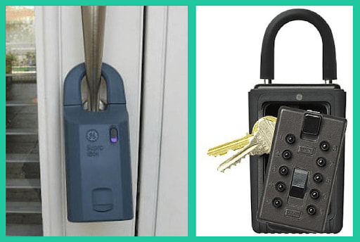 Looping your lockbox around the door handle may not be the most secure option