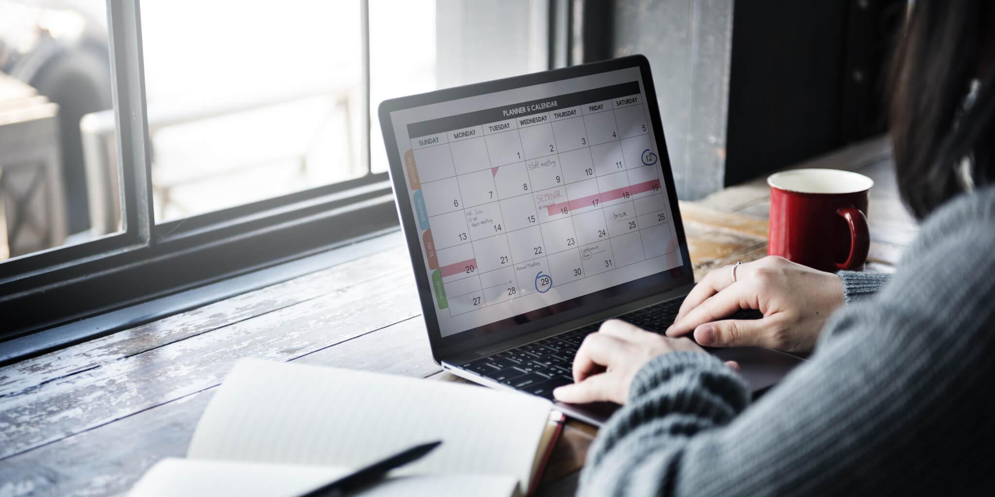 Regularly update your calendar