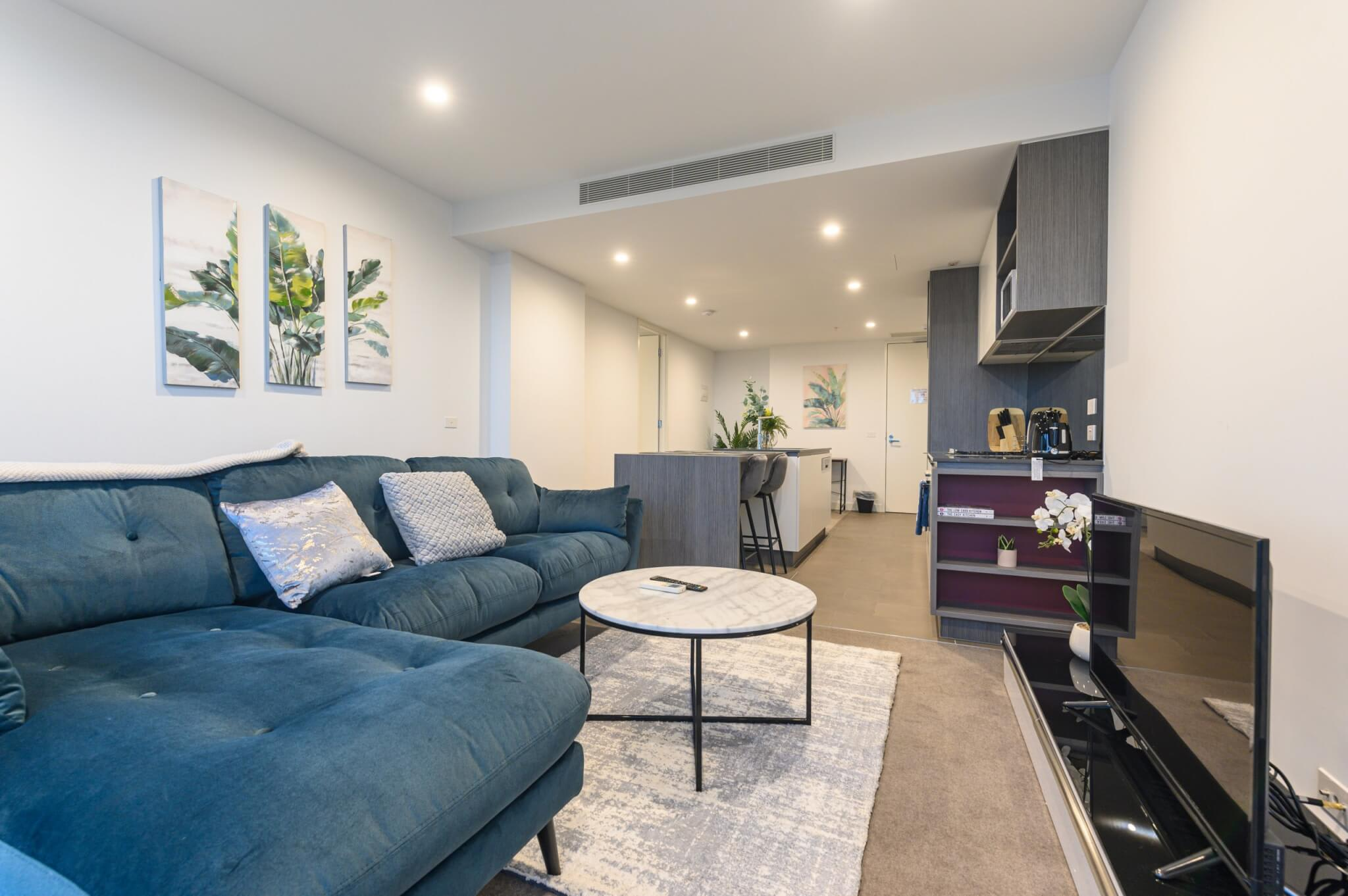 short term rental living room