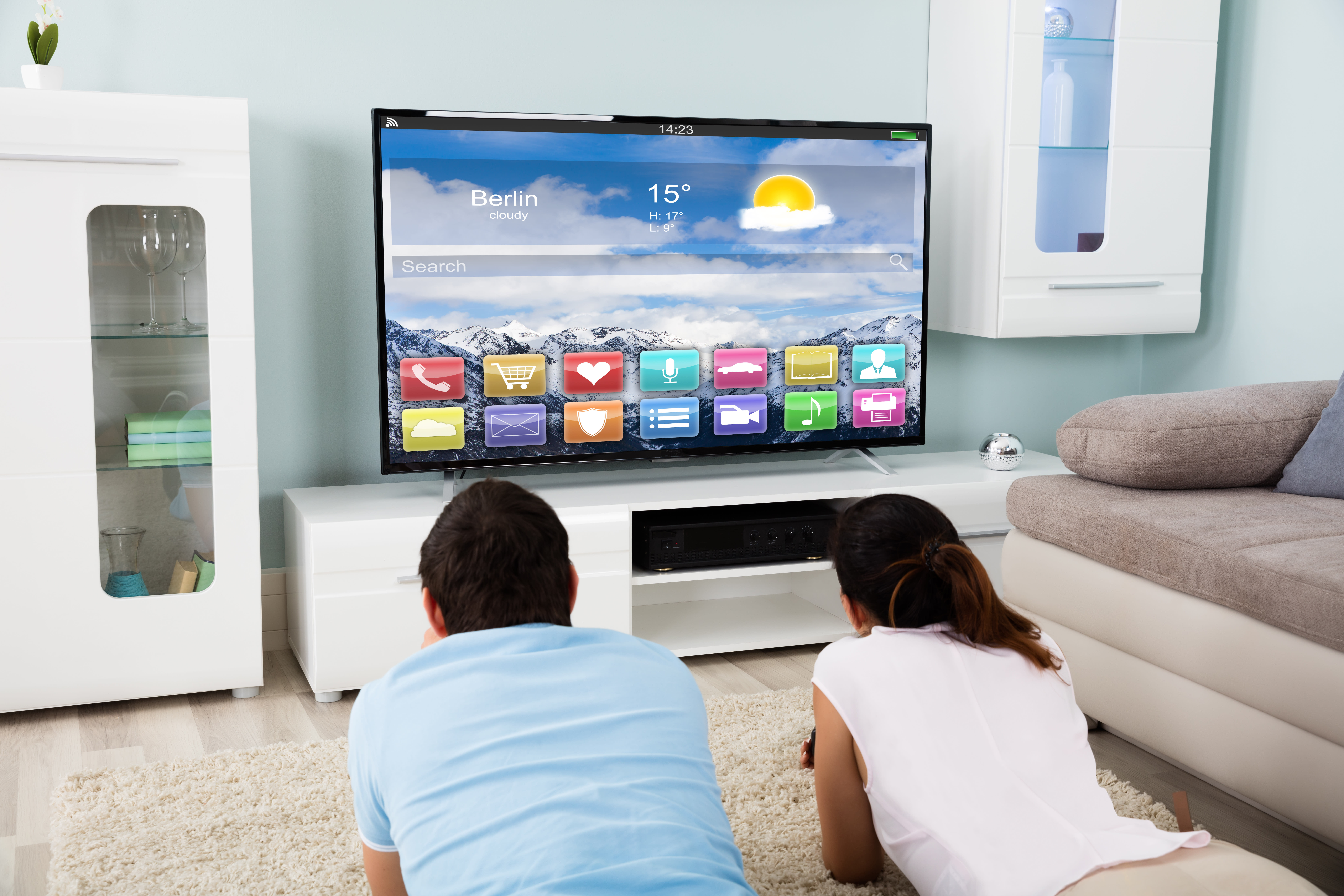 A smart TV can enhance your guests' experience