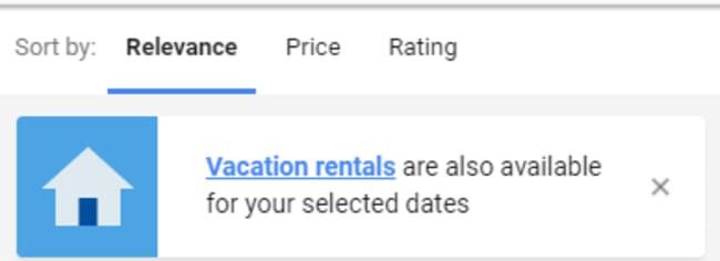 Google Vacation Rentals - Vacation Rental Market