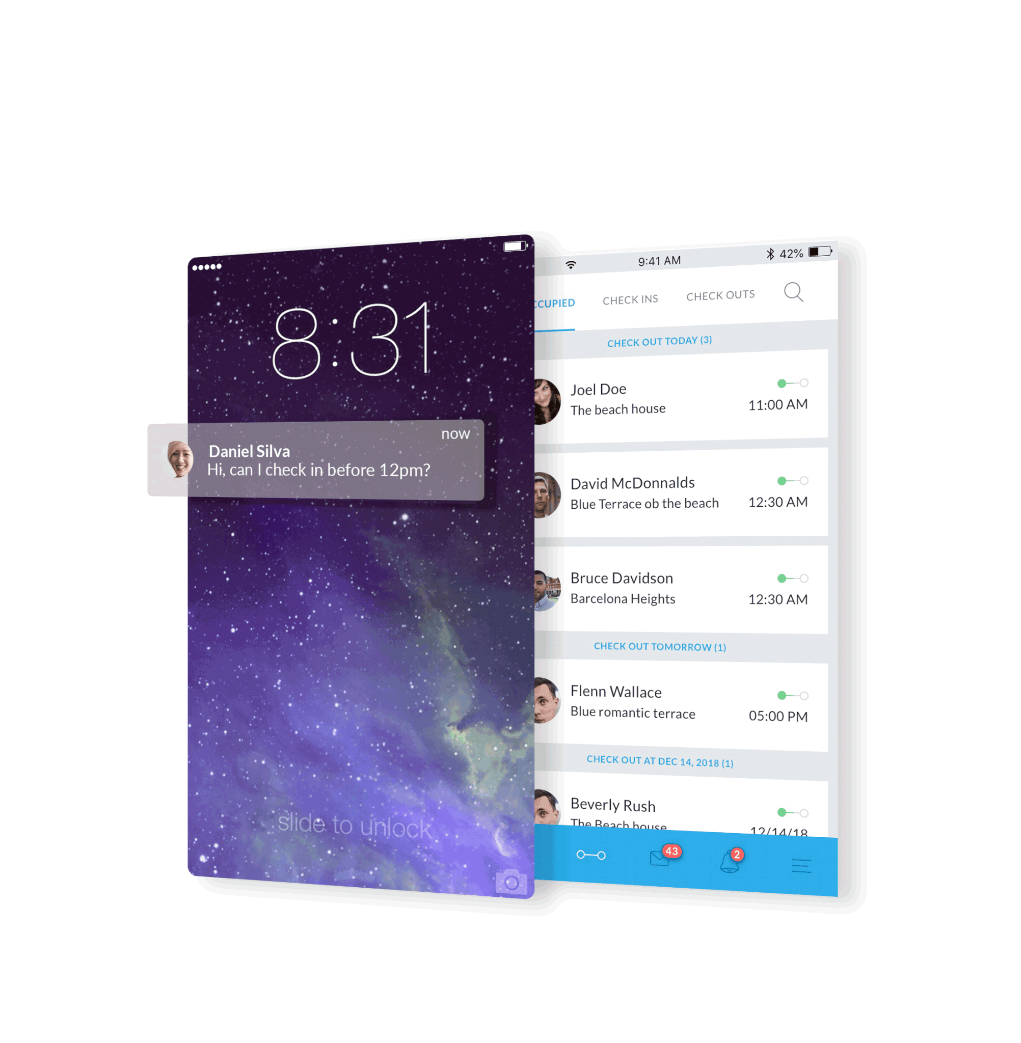 Guesty Mobile inbox