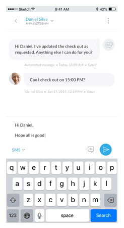 guesty mobile chat
