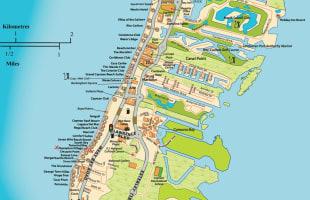 Seven Mile Beach Map