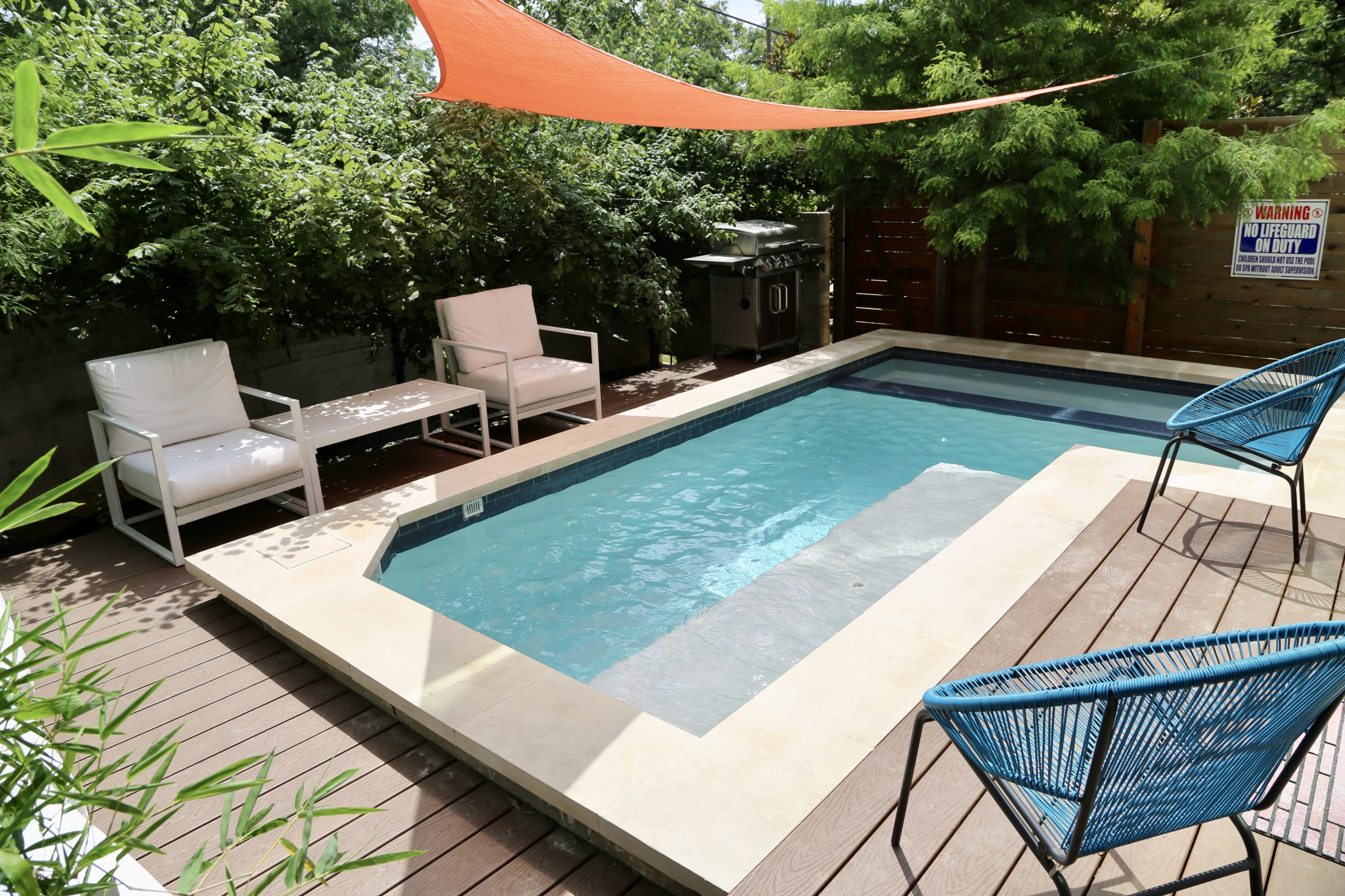Modern meets luxury with Pool and large hot tub in this downtown...
