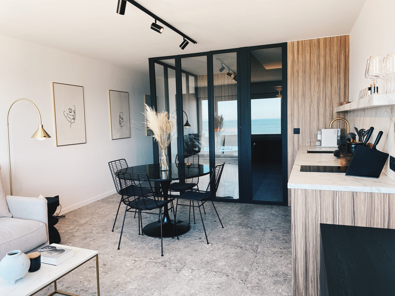 Modern design studio with a stunning view over Ostend beach