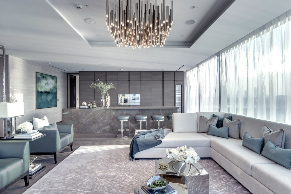 Living Room at One Palm By Omniyat