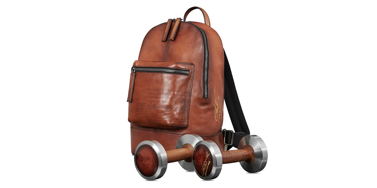 Reserve price of Berluti Dumbbells and Backpack: €4,0000