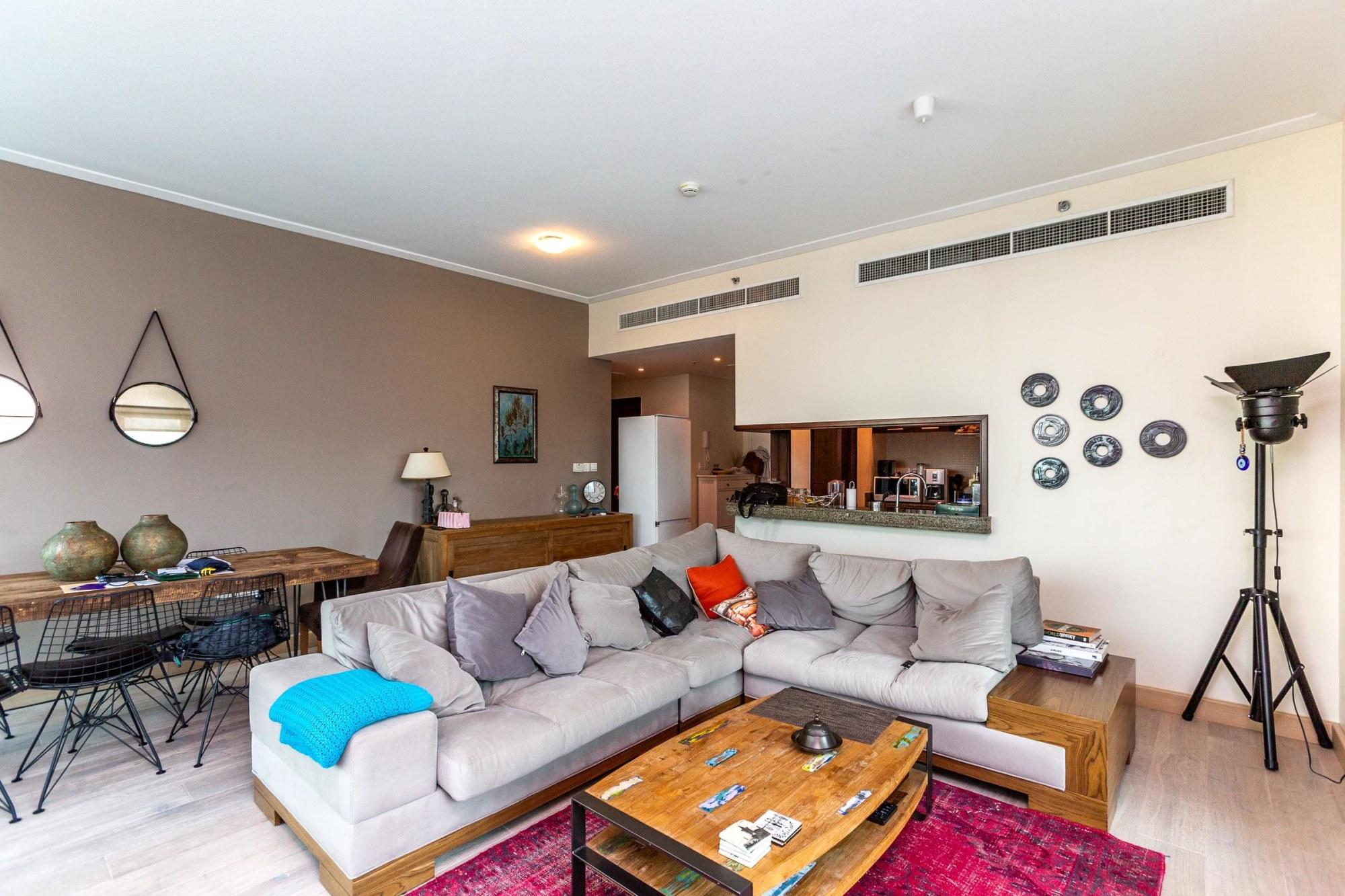 Two Bedroom with Hardwood Floor | Marina view