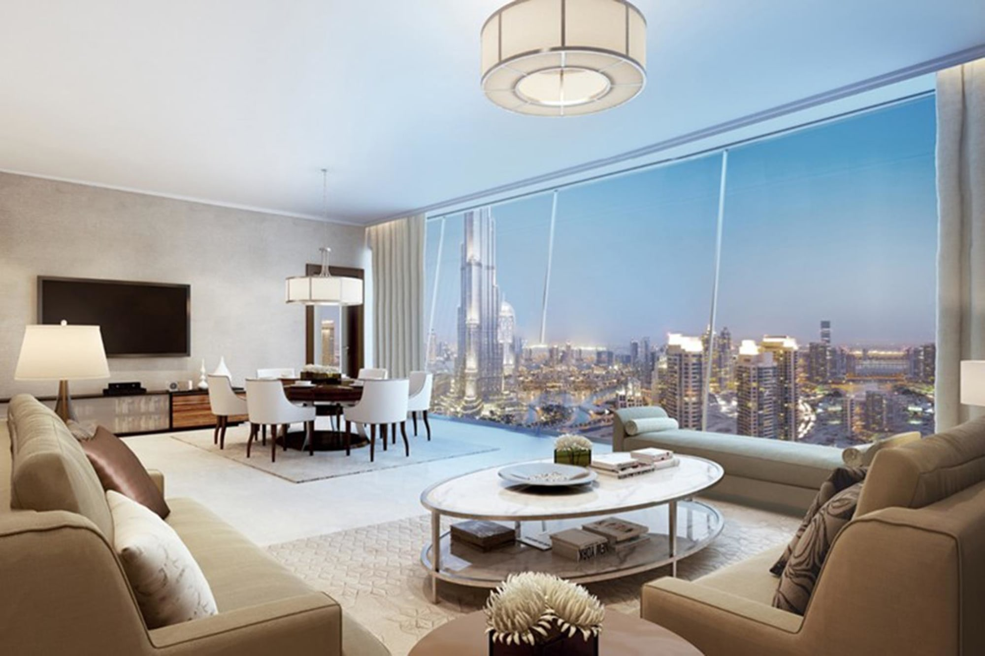 Burj Vista | Two Bedroom with Sea View