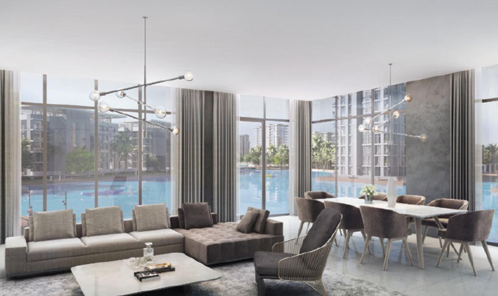 Contemporary 3 Bedroom | Lagoon Facing | MBRC
