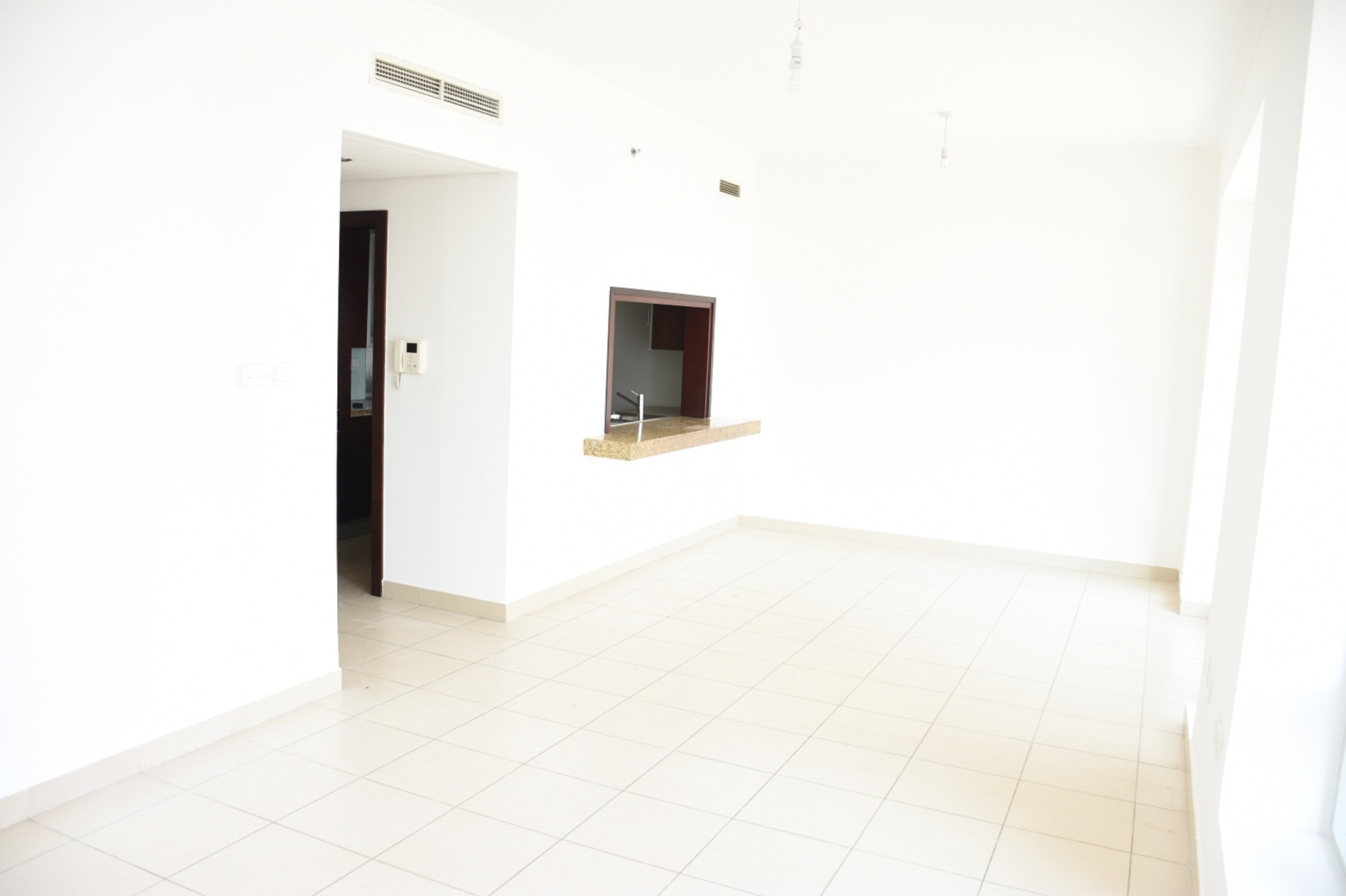 Vacant Large Studio with Partial Burj Khalifa View
