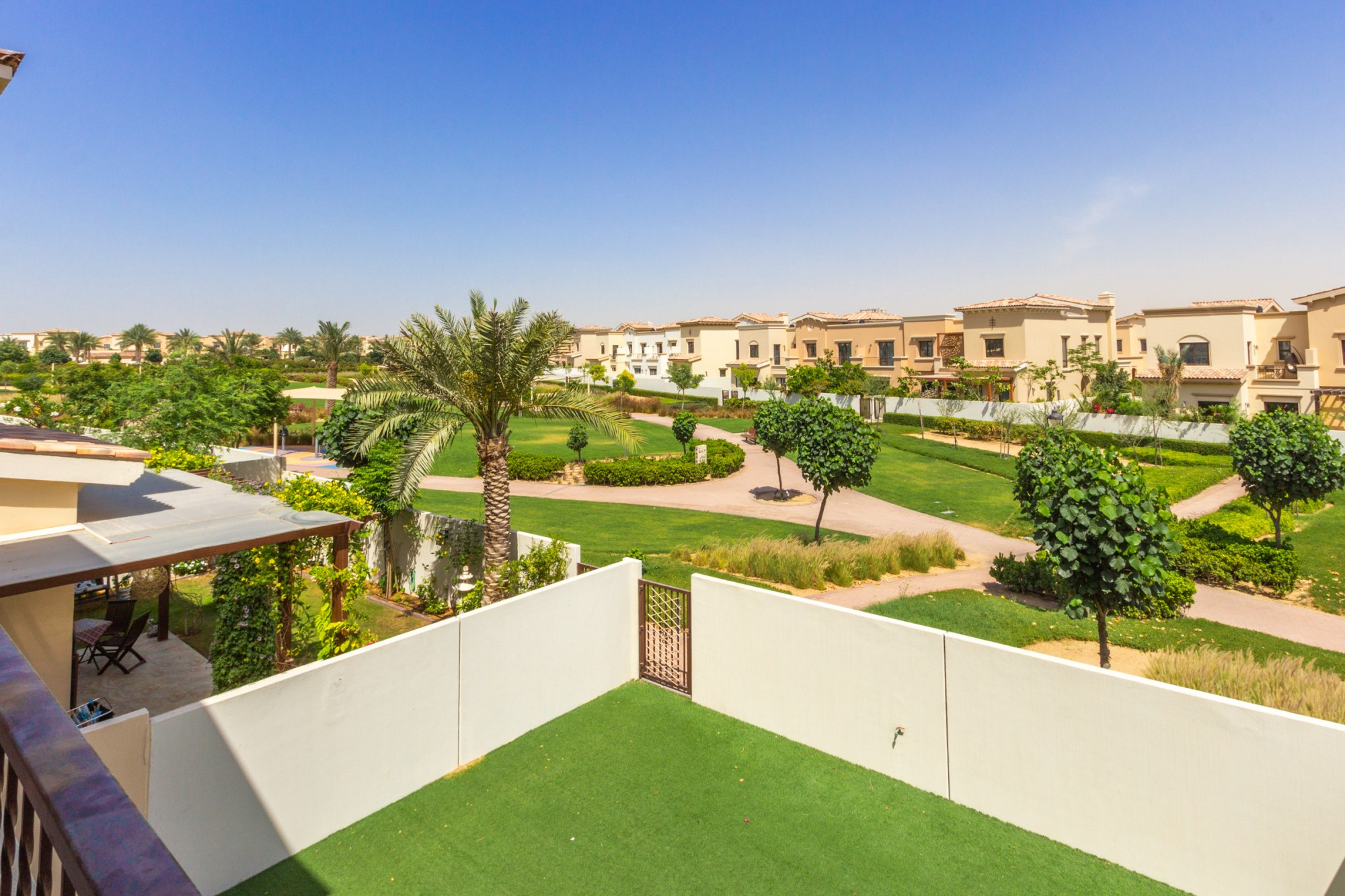 Type 1M Villa Backing Park and Pool Area