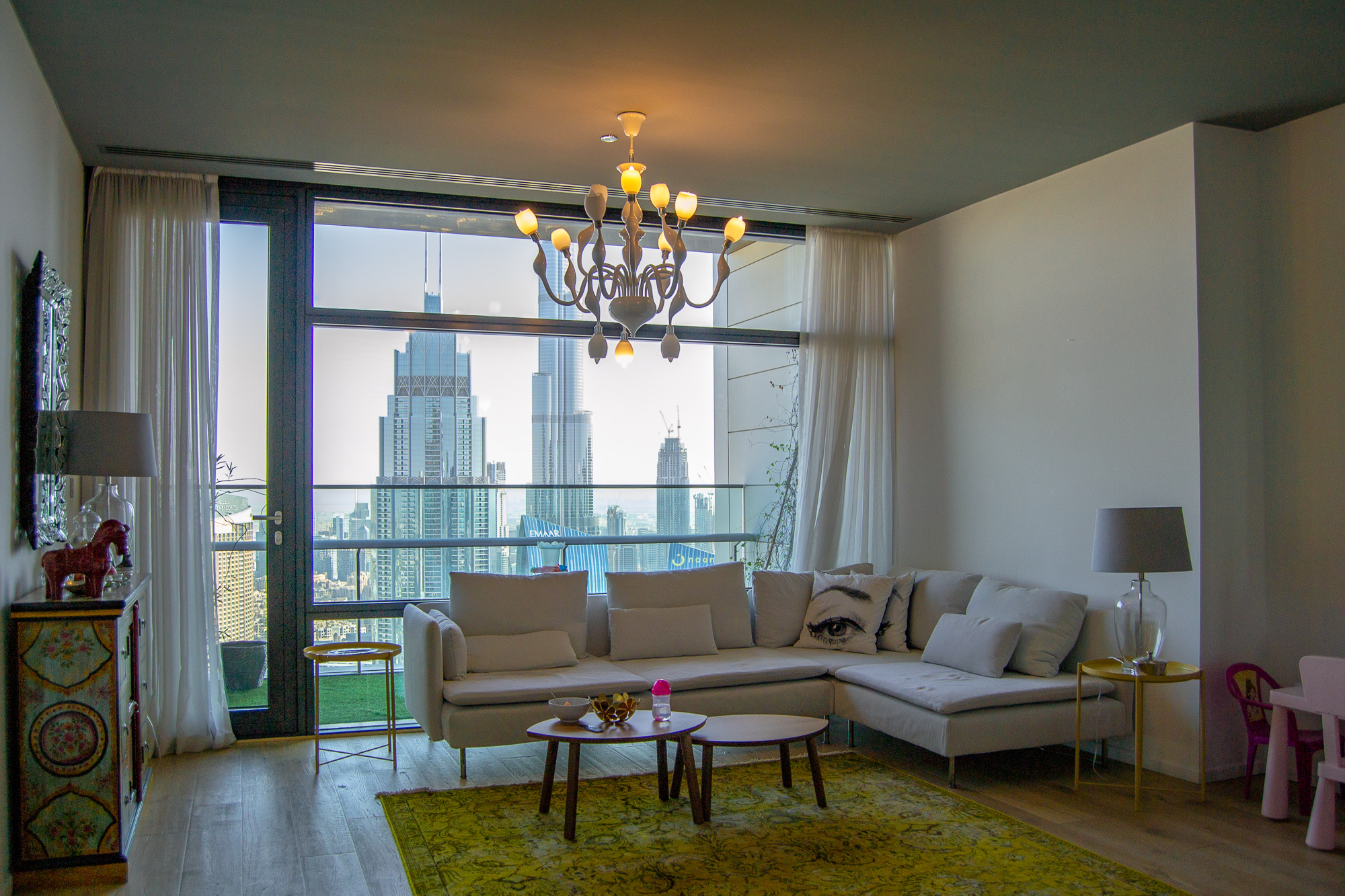 Unfurnished Two Beds w/ Burj Khalifa View