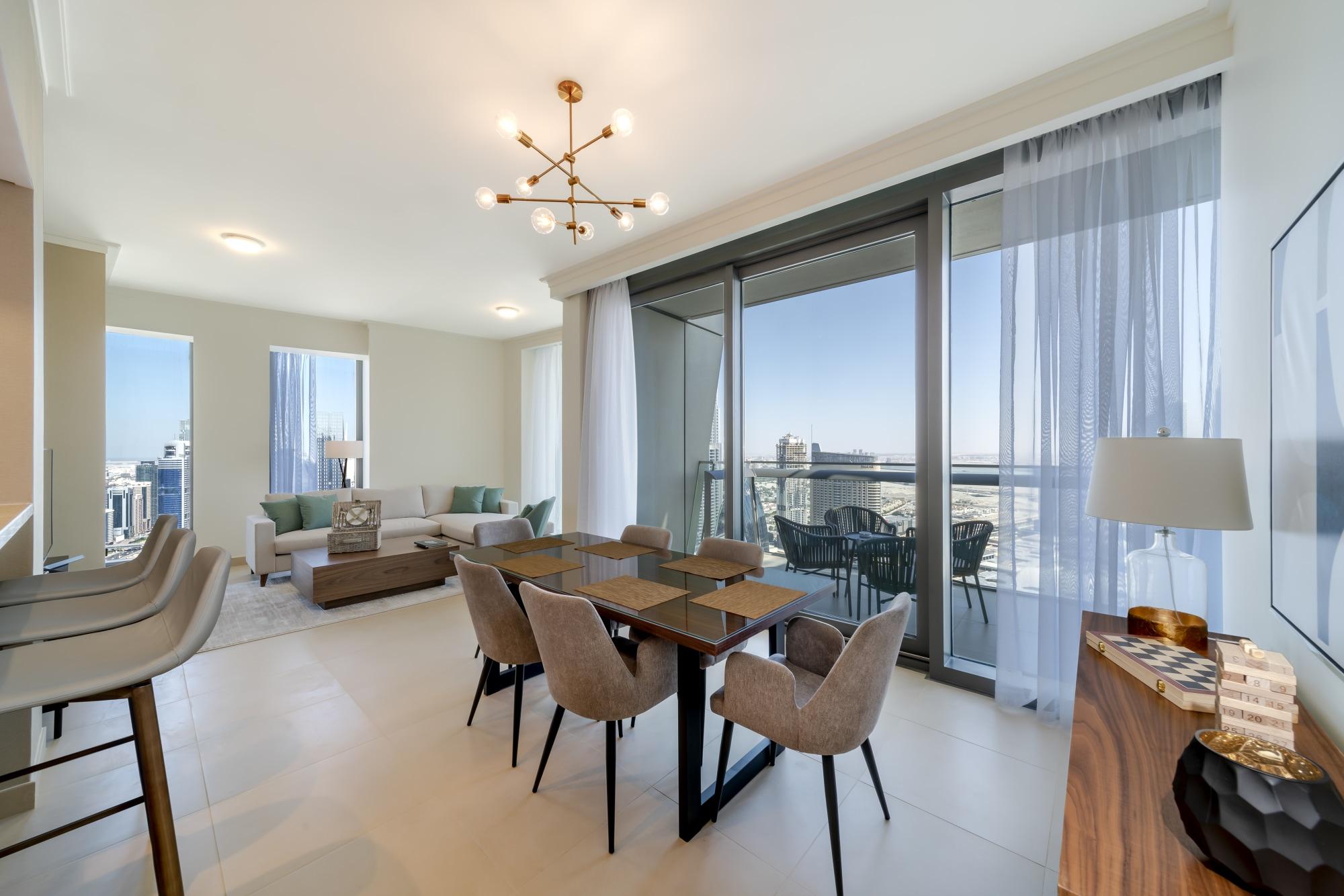 Brand New 3 Beds Corner Unit High Floor Burj View