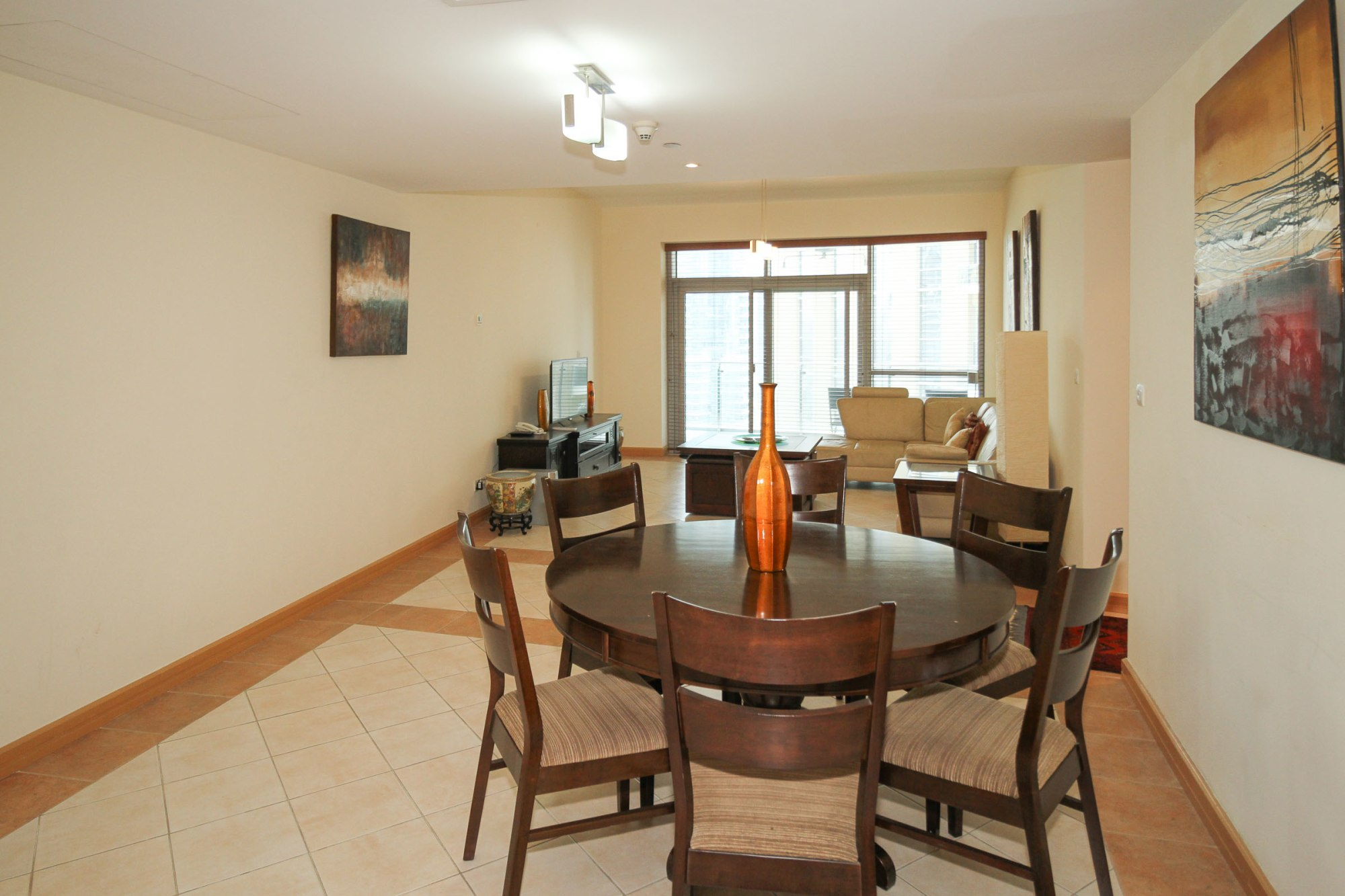 Furnished 2 Bed+M with Marina View, Available Now!