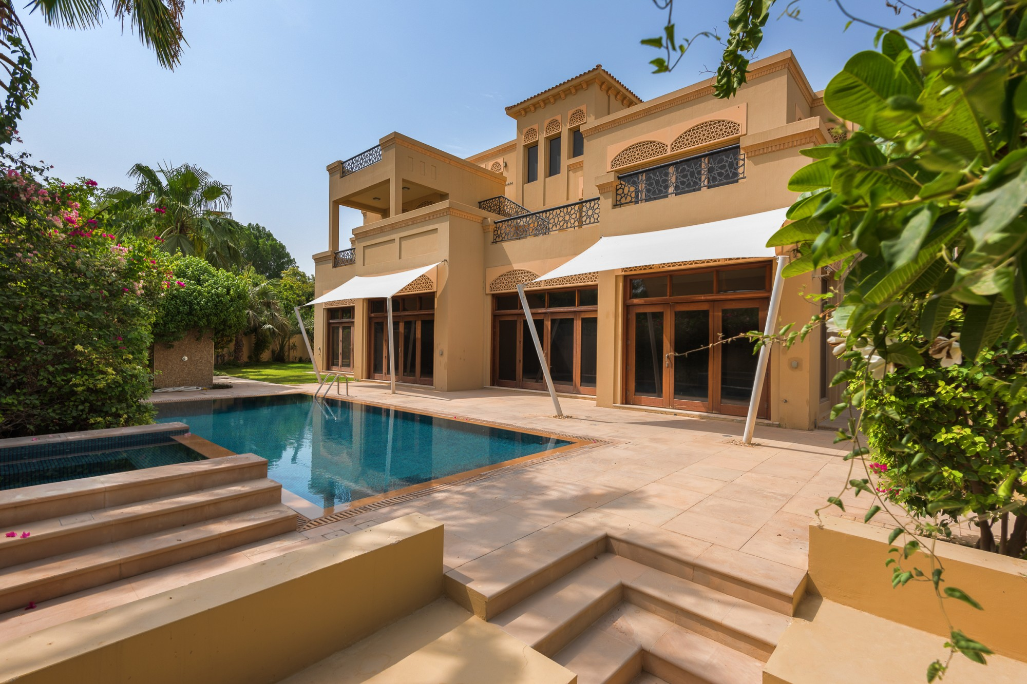 Al Barari B type Corner villa extended plot