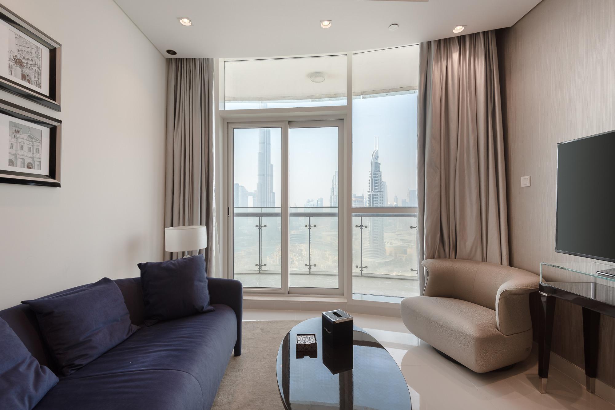 2 Bed Burj Khalifa view |High floor|Fendi design