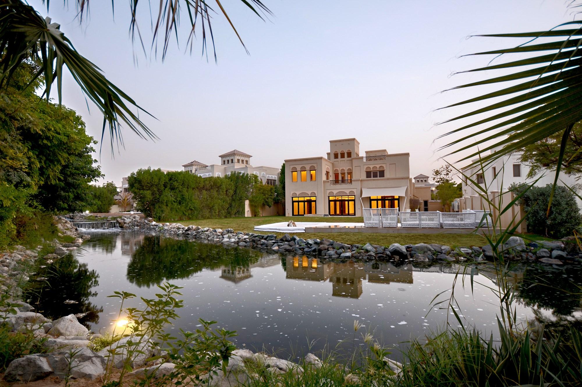 Barari water front villa with an 18400 sq ft plot