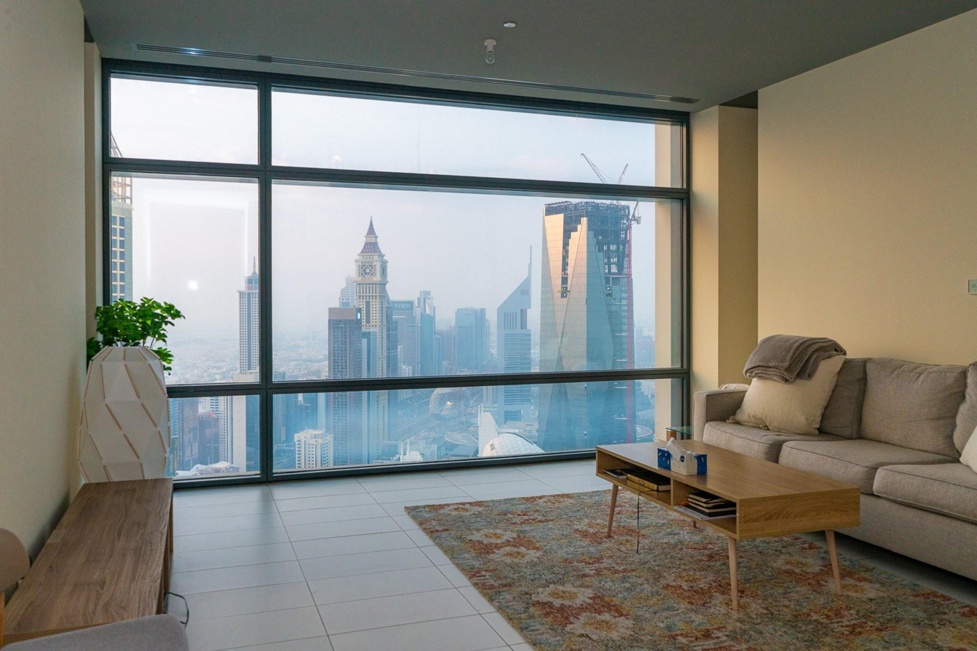 Modern 1BR | High Floor | Stunning DIFC & Sea View