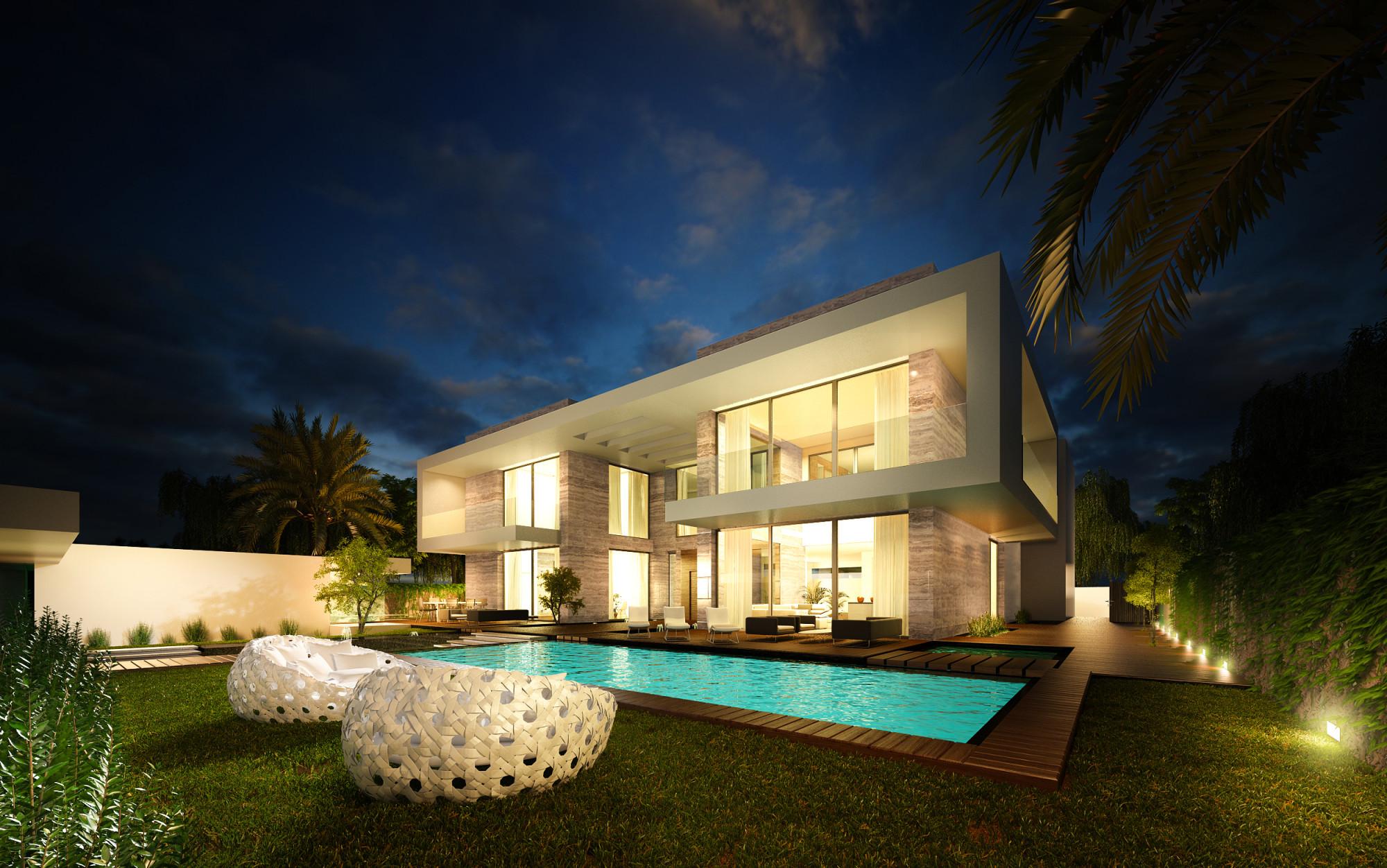 Contemporary Villa Infinity Pool & Roof Terrace