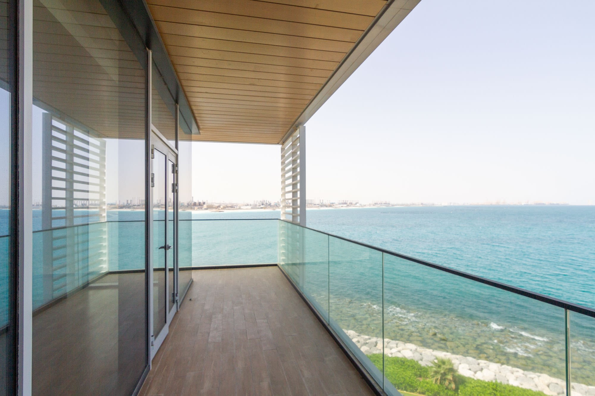Panoramic ocean view apartment with large terrace