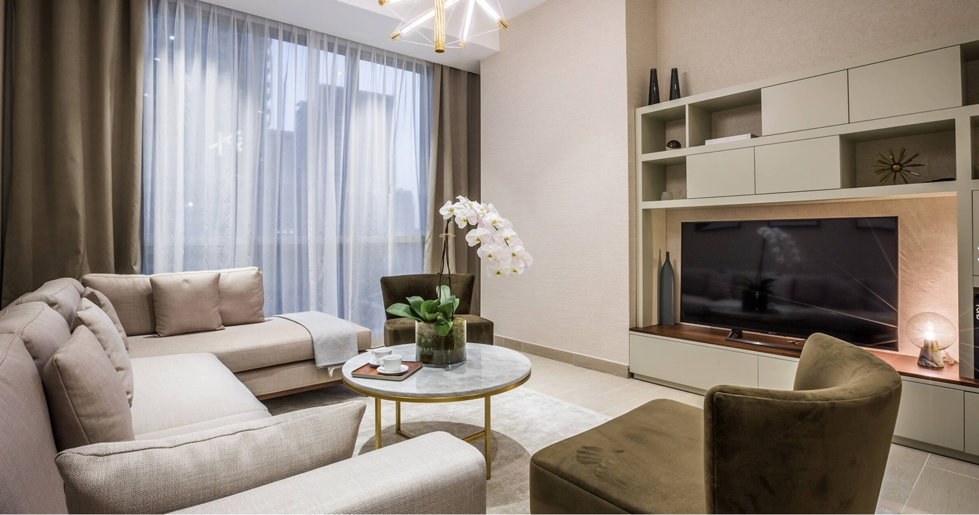 Elegant brand new apartment with full marina view