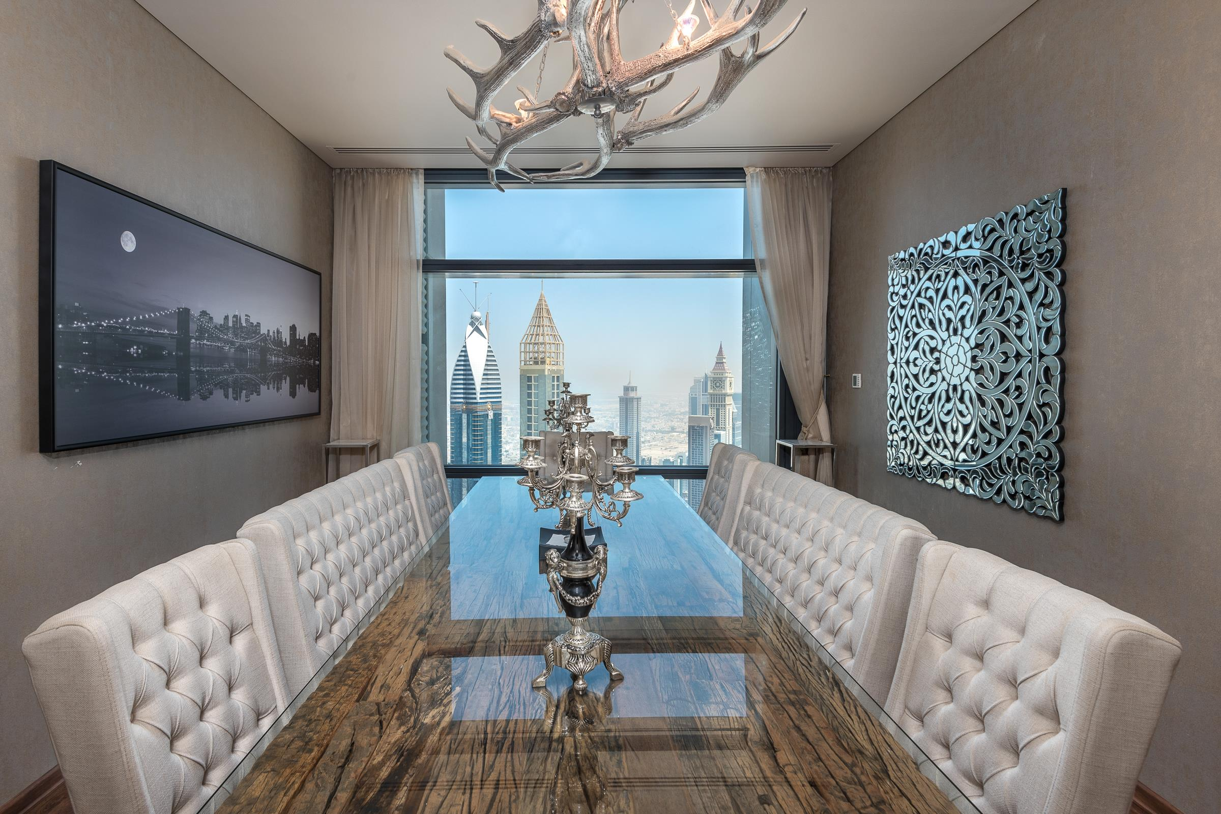 3 Bed with Burj Khalifa & Sea View on High Floor