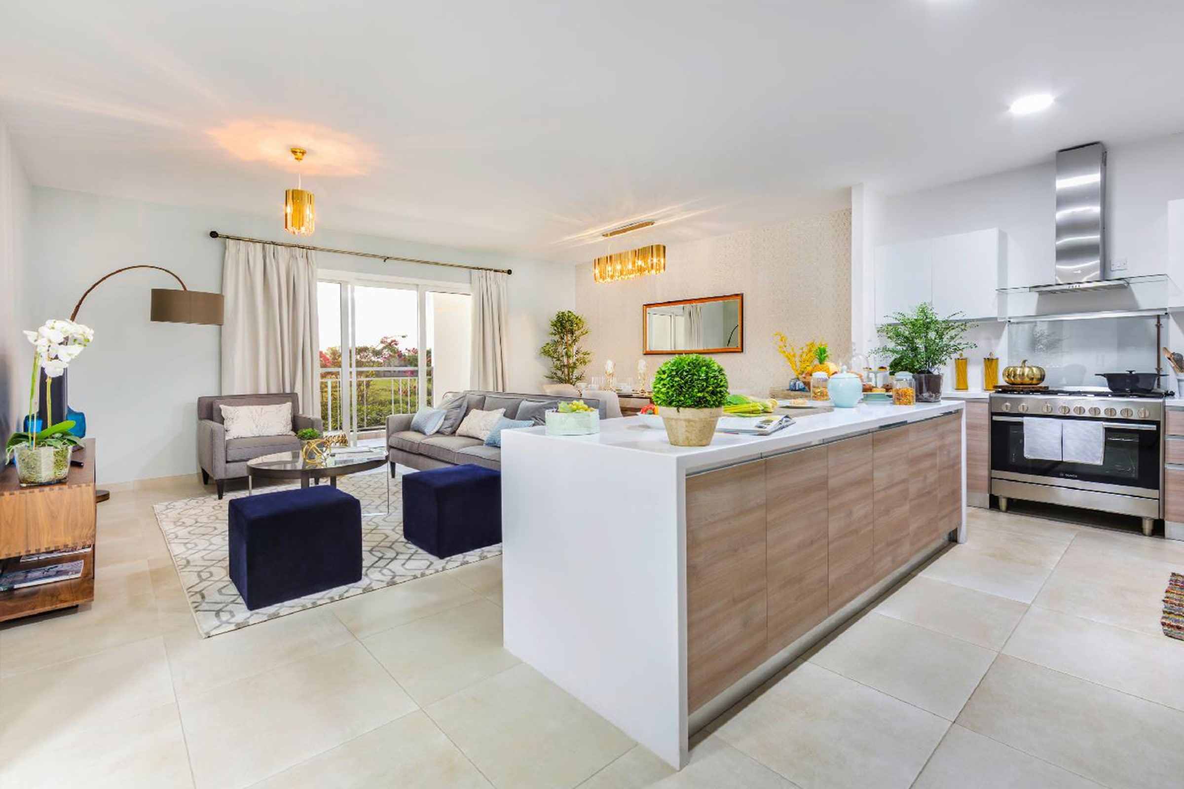 Modern Two Bed Apartment with Golf View