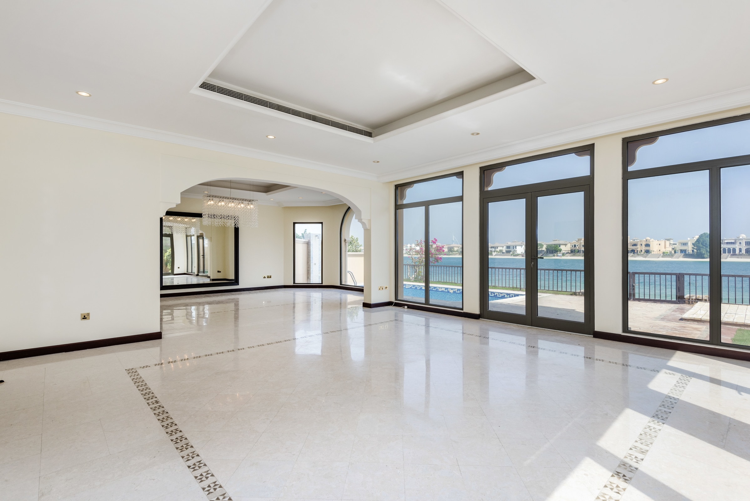 Atrium Entry 5BR Villa Burj Al Arab View