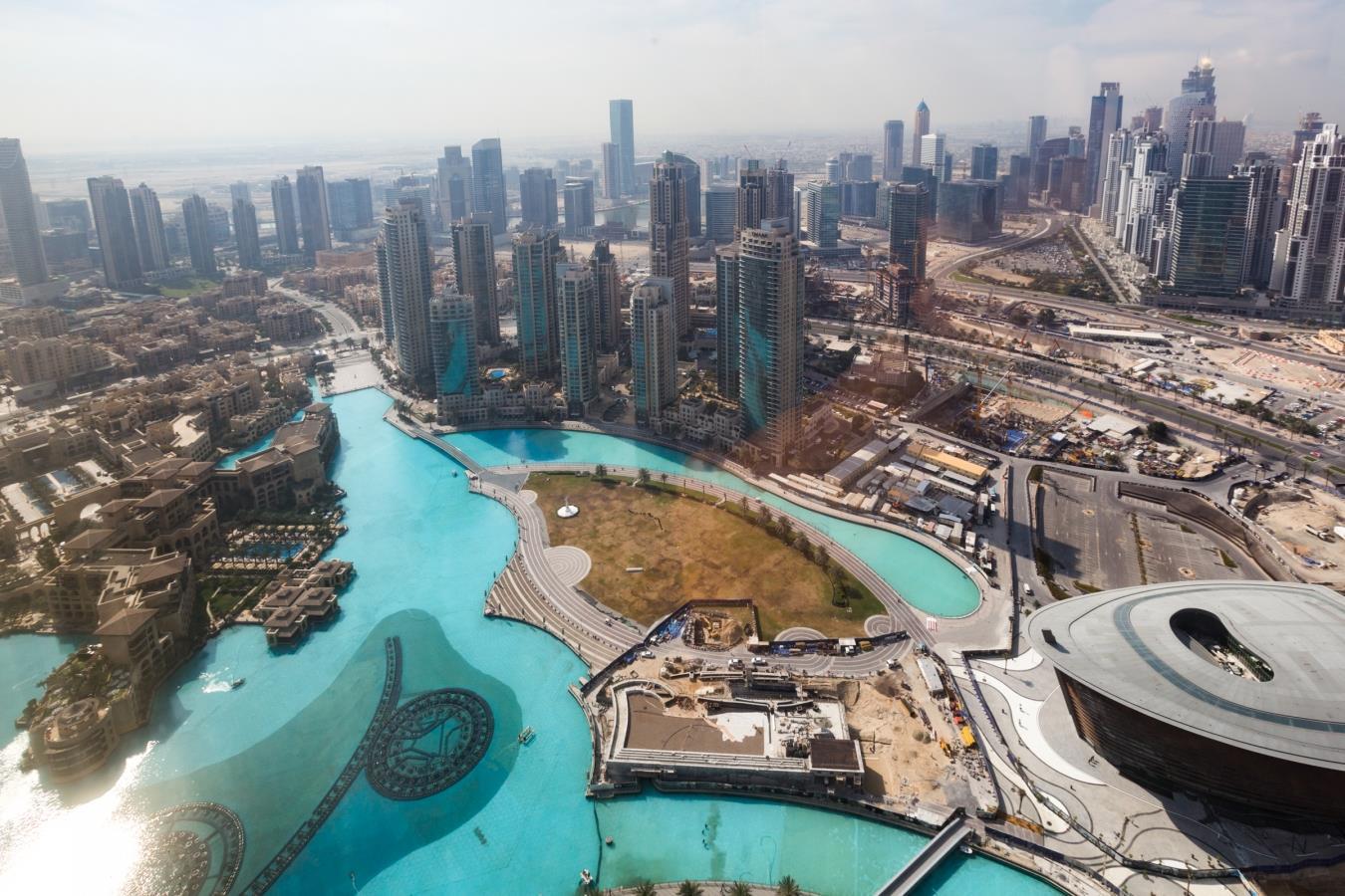 Opulent Fountain and Burj Al Arab View