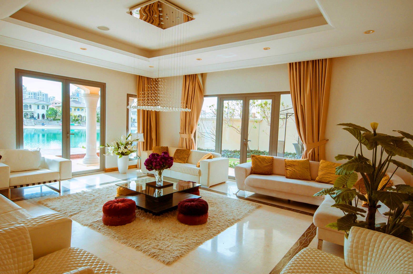 Grand Foyer 4BR villa Burj Al Arab view