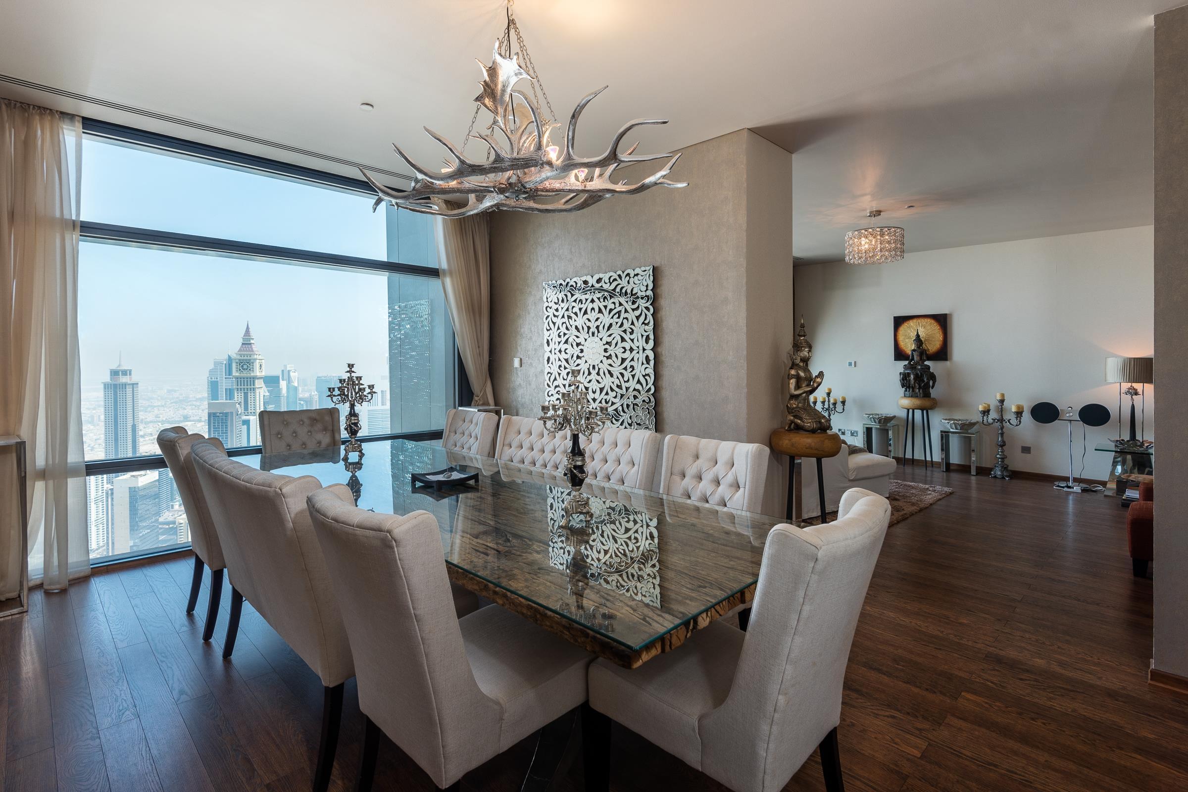 3 Bed with Burj Khalifa & Sea View on High Floor