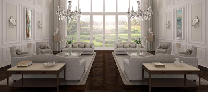 Resale Contemporary Mansion Golf Course View