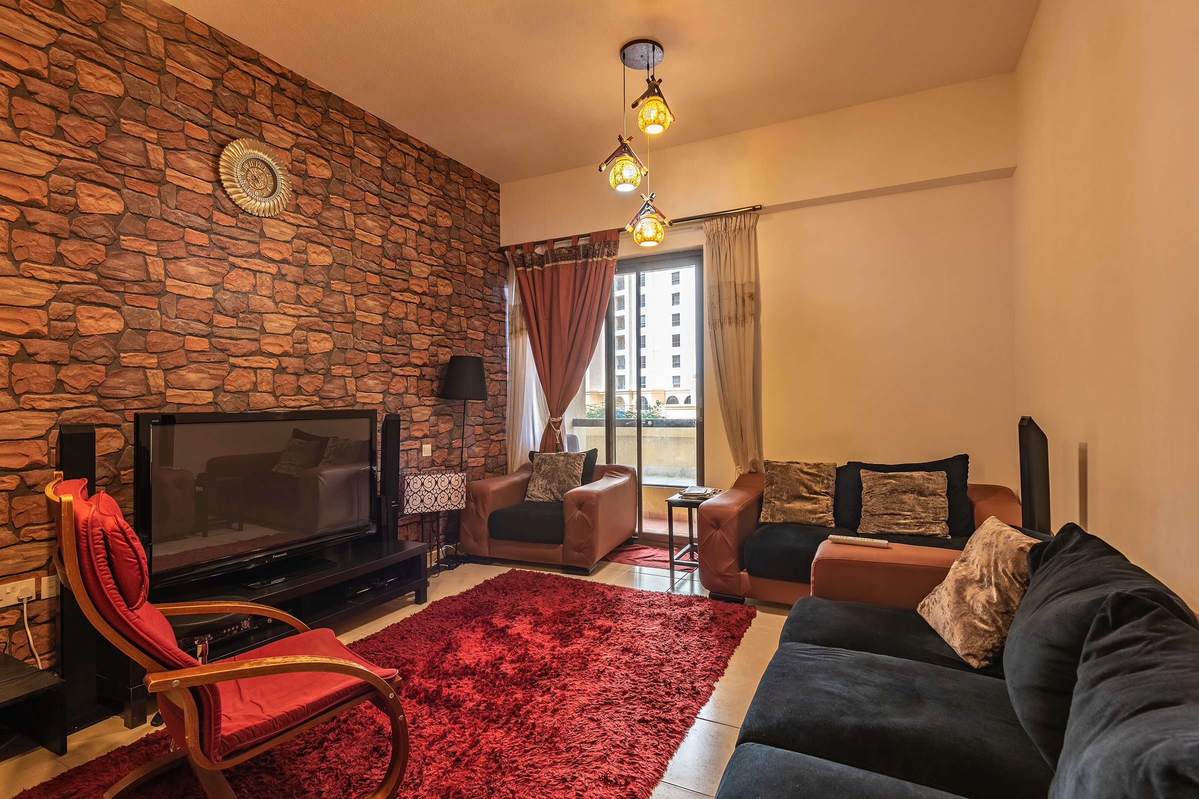 Furnished 4 BR with Garden View