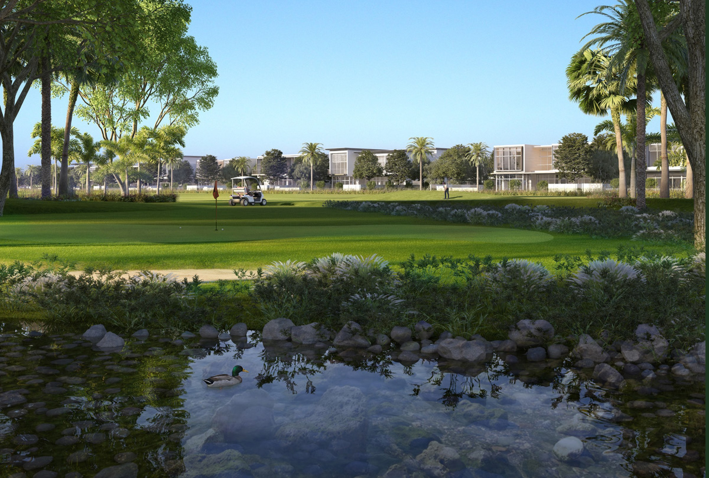 Live Golf | 4 Bed + Maid|Modern Villa|Golf Course
