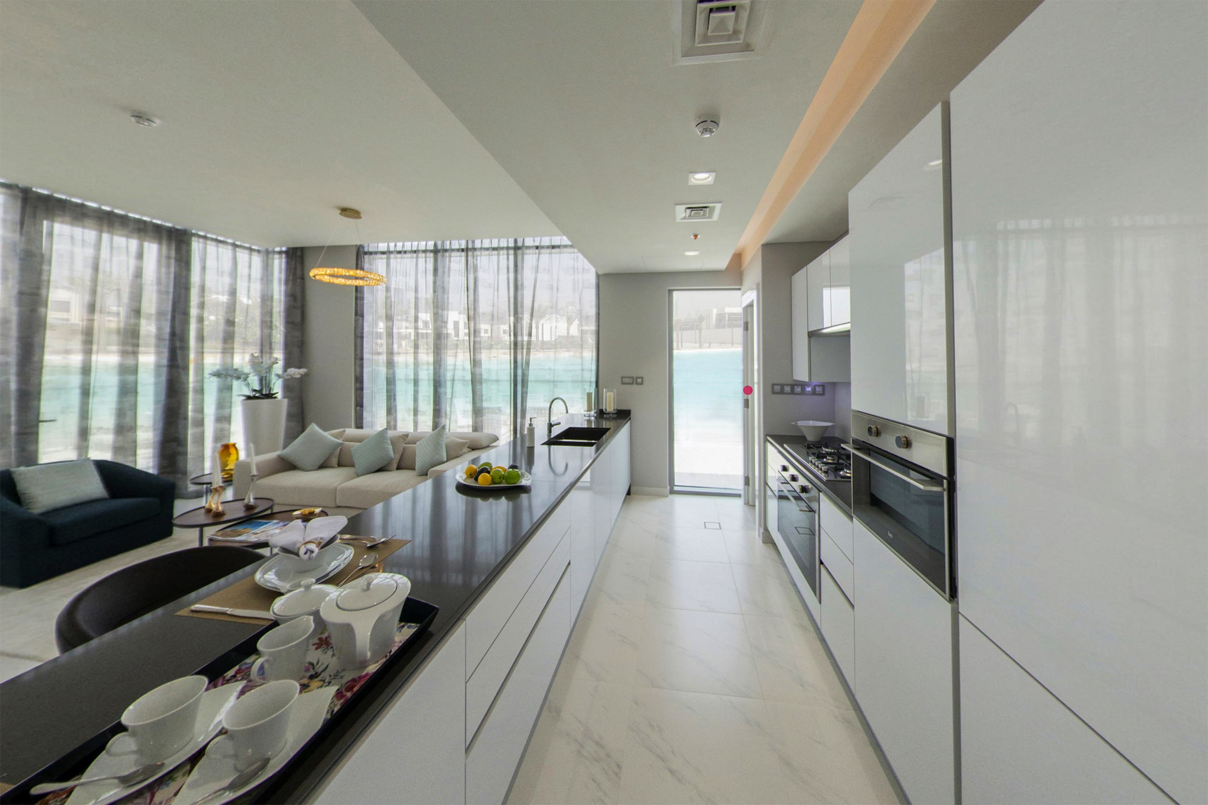 Full Crystal Lagoon View  Stunning 2 Bed