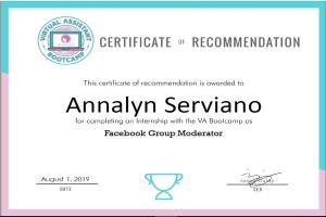 Portfolio for Facebook Group Moderation / Management