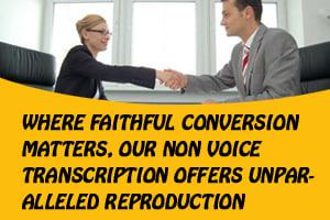 Portfolio for Non Voice Transcription (PDF to Word)