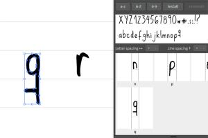Portfolio for Convert your handwriting to Font