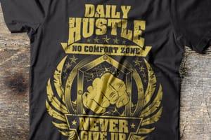 Portfolio for T shirt design, typography