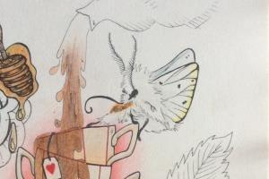 Portfolio for Artistic illustrator in bright mediums