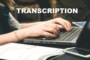 Portfolio for Transcription