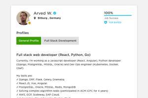 Portfolio for Enterprise Full stack Web development