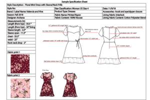 Portfolio for Costing Sheet and Garment Tech pack