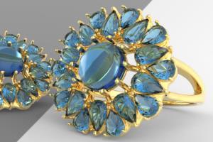 Portfolio for 3d CAD jewelry production designer