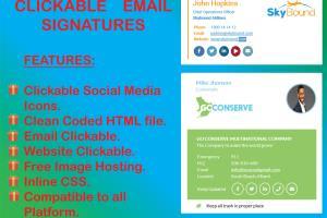 Portfolio for Creative Clickable Email Signature