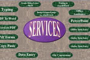 Portfolio for Data Entry Operator