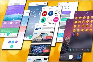 Portfolio for iOS & Android Custom Emoji Keyboard App,