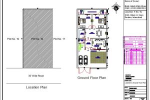 Portfolio for 2d drawing and site plan, floor plan